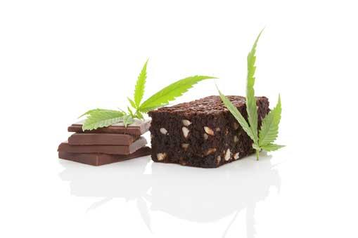 Brownie de Marihuana con Helado - Brownie Cannábico con Helado