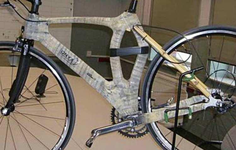 Bici hecha de cáñamo